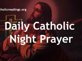 Daily Catholic Night Prayer