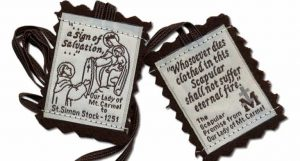 The scapular of Our Lady of Mt Carmel or the Brown Scapular