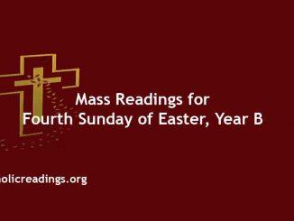 Catholic Mass Readings for Fourth Sunday of Easter, Year B