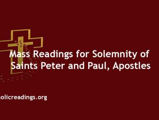 Mass Readings for Solemnity of Saints Peter and Paul, Apostles