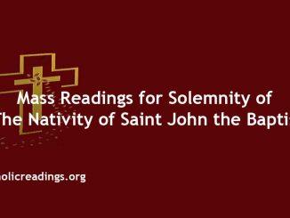 Mass Readings for Solemnity of the Nativity of Saint John the Baptist