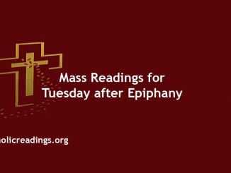 Catholic Daily Mass Readings for Tuesday after Epiphany of the Lord
