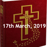Catholic Readings for March 17 2019 - Second Sunday of Lent