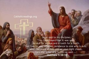 An Eye for an Eye and a Tooth for a Tooth - Matthew 5:38-39 - Bible Verse of the Day