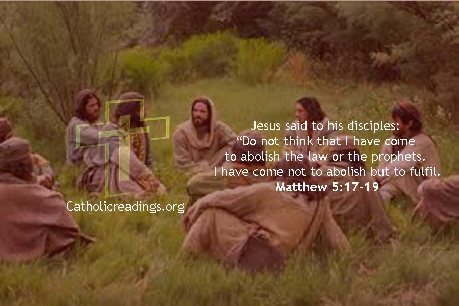 I have Come not to Abolish but to Fulfil the Law - Matthew 5:17-19 - Bible Verse of the Day