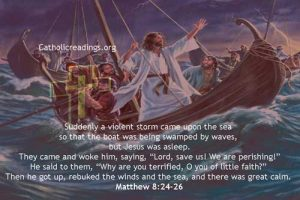 Jesus Calms the Storm at the Sea - Bible Verse of the Day