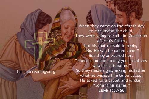 He Will Be Called John - Luke 1:57-66 - Bible Verse of the Day