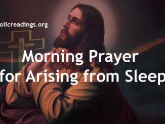 Morning Prayer for Arising from Sleep