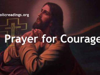 Prayer for Courage - Catholic Prayers