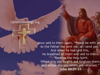 Pentecost Sunday! Receive the Holy Spirit - John 20:19-23 - Bible Verse of the Day