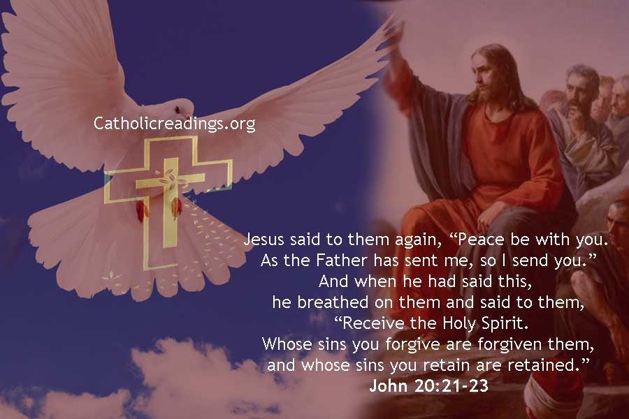 Bible Verse of the Day - Pentecost! Receive the Holy Spirit - John 20:19-23