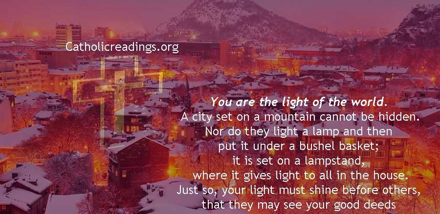 You are the Light of the World - Matthew 5:14-16 - Bible Verse of the Day