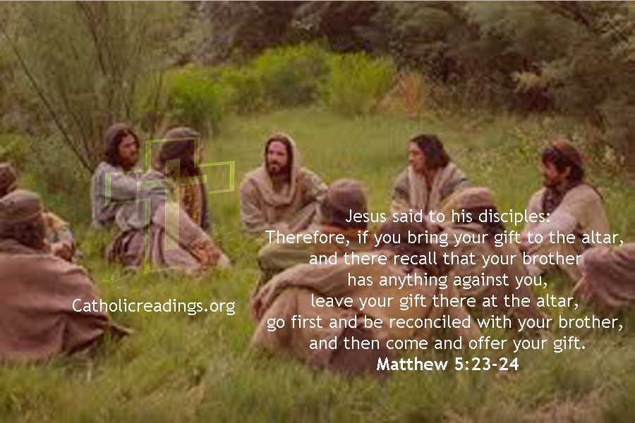 Bible verse of the Day, Matthew 5:20-26 - leave your gift at the altar