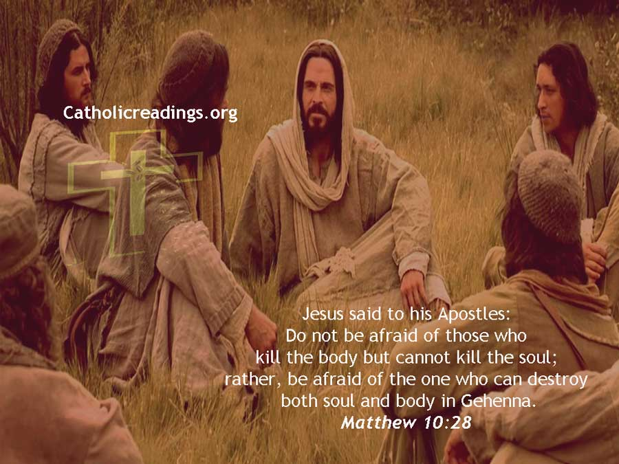 Do Not be Afraid of Those Who Kill the Body But Cannot Kill the Soul - Matthew 10:24-33, Luke 12:1-7 - Bible Verse of the Day