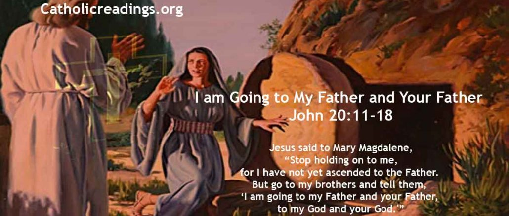 Jesus to Mary Magdalene: I am Going to My Father and Your Father, to My God and Your God - John 20:11-18 - Bible Verse of the Day