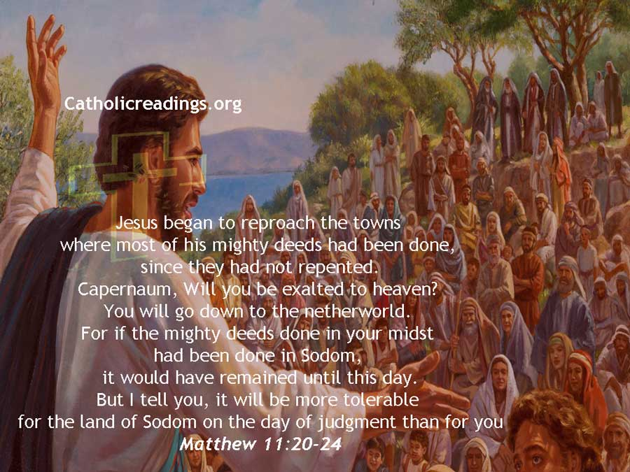 It Will Be More Tolerable for the Land of Sodom on the Day of Judgment than for You - Bible Verse of the Day