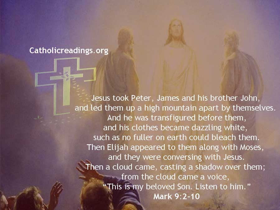 The Transfiguration of Jesus on the Mountain - Mark 9:2-10 - Bible Verse of the Day