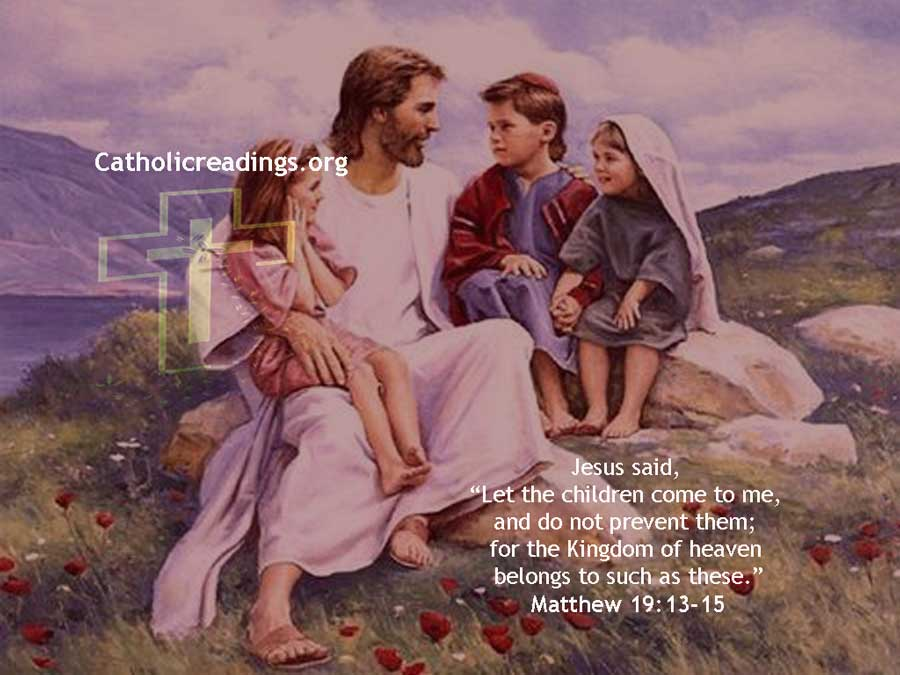 Let The Children Come to Me - Matthew 19:13-15, Mark 10:13-16