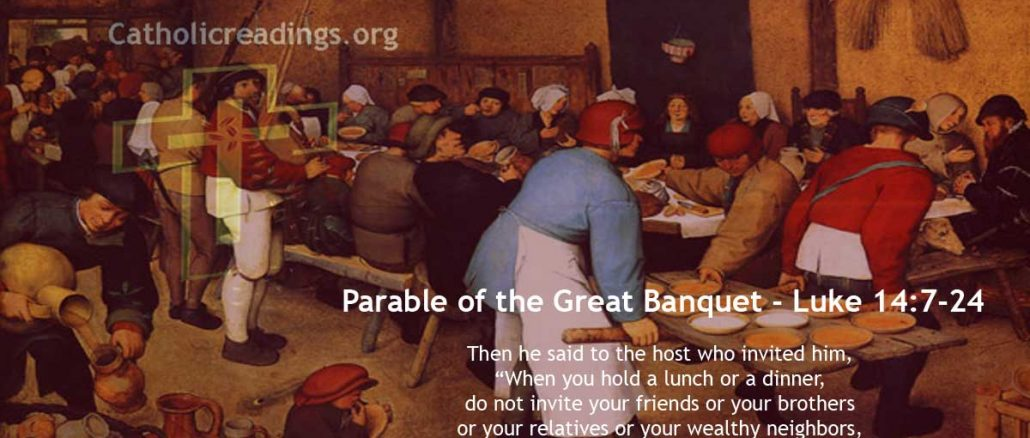 Parable of the Great Banquet - Luke 14:7-24 - Bible Verse of the Day