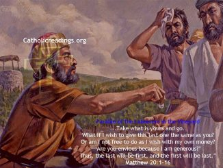 Parable of the Labourers in the Vineyard - Matthew 20:1-16 - Bible Verse of the Day
