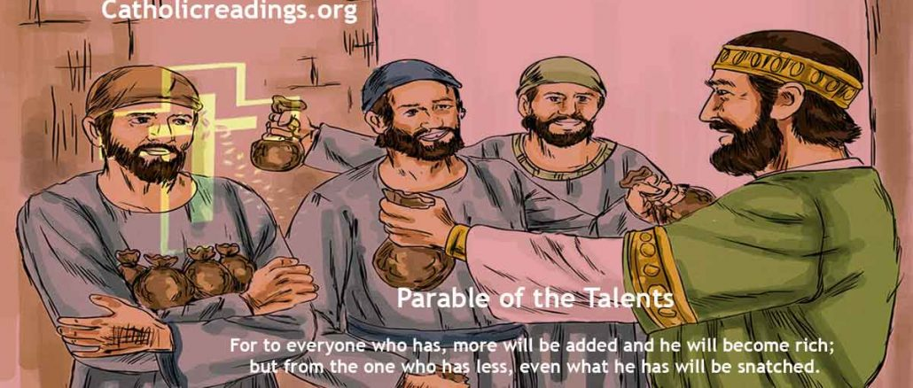 Parable of the Talents - Matthew 25:14-30, Matthew 13:12 - Bible Verse of the Day