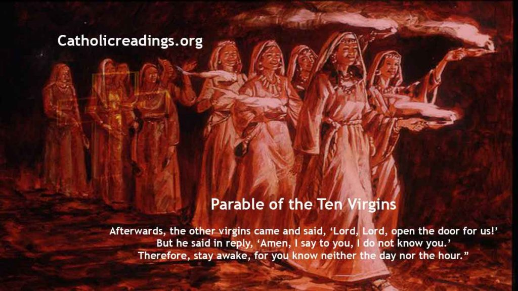 Parable of the Ten Virgins - Matthew 25:1-13 - Bible Verse of the Day