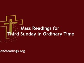 Catholic Mass Readings for Third Sunday in Ordinary Time