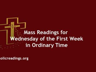 Catholic Mass Readings for Wednesday of the First Week in Ordinary Time