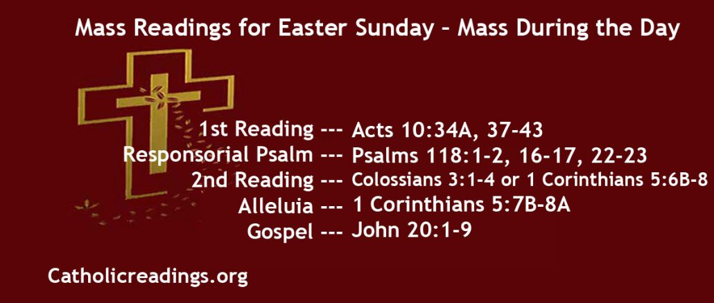 Easter Sunday - The Resurrection of the Lord - The Mass of Easter Day
