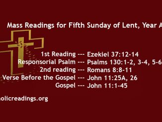 Fifth Sunday of Lent, Year A