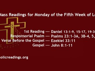 Monday of the Fifth Week of Lent