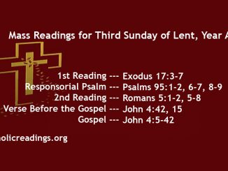 Third Sunday of Lent, Year A