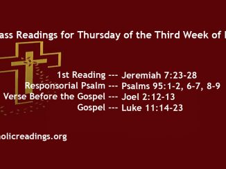 Thursday of the Third Week of Lent