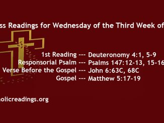 Wednesday of the Third Week of Lent