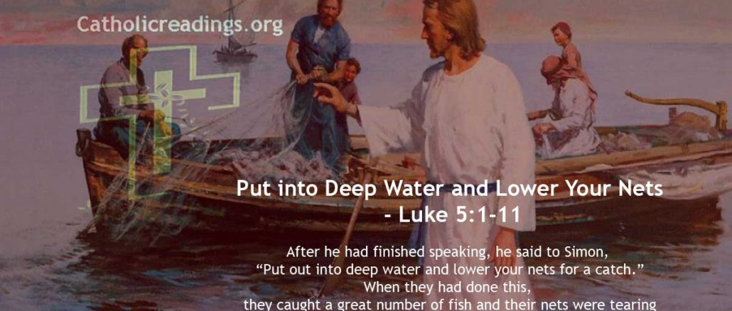 Put into Deep Water and Lower Your Nets - Luke 5:1-11 - Bible Verse of the Day