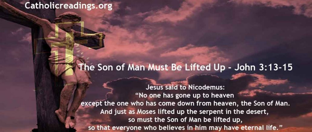 The Son of Man Must Be Lifted Up - John 3:13-17 - Bible Verse of the Day