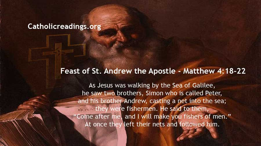 Feast of St. Andrew the Apostle - Matthew 4:18-22 - Bible Verse of the Day
