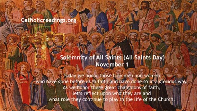 Solemnity of All Saints (All Saints Day), November 1 - Bible Verse of the Day