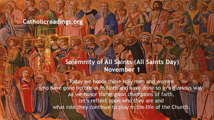 Solemnity of All Saints (All Saints Day), November 1 2019 - Bible Verse of the Day