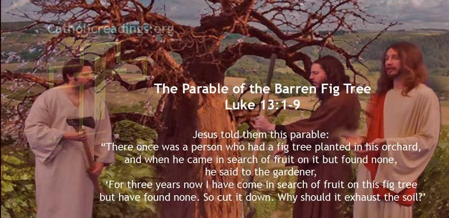 The Parable of the Barren Fig Tree - Luke 13:1-9 - Bible Verse of the Day