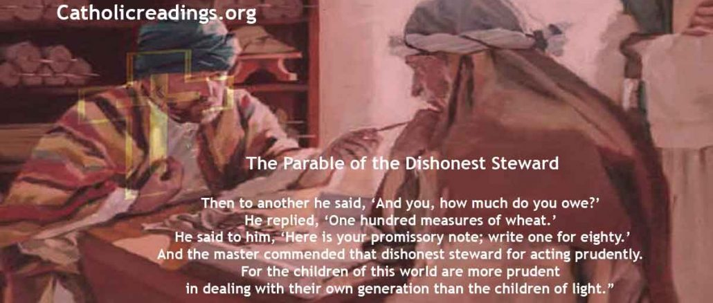 The Parable of the Dishonest Steward - Luke 16:1-8 - Bible Verse of the Day