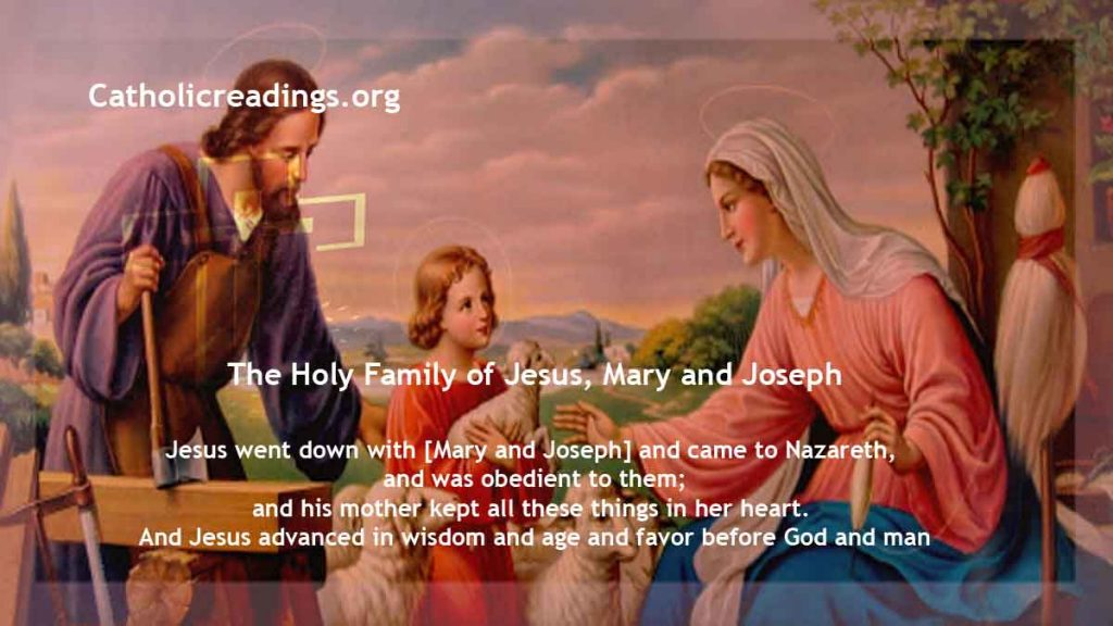 The Holy Family of Jesus, Mary and Joseph - Bible Verse of the Day