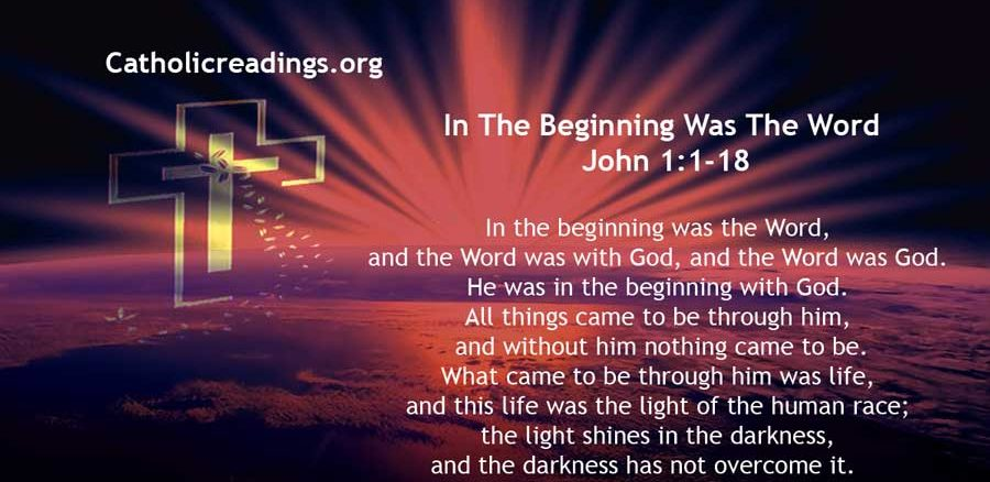 In The Beginning Was The Word And The Word Was God - Bible Verse of the Day