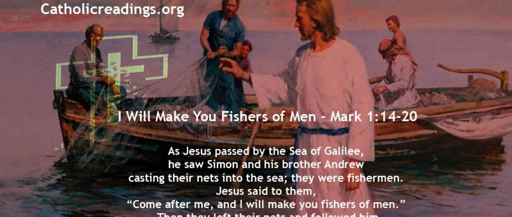 I Will Make You Fishers of Men - Mark 1:14-20 - Bible Verse of the Day