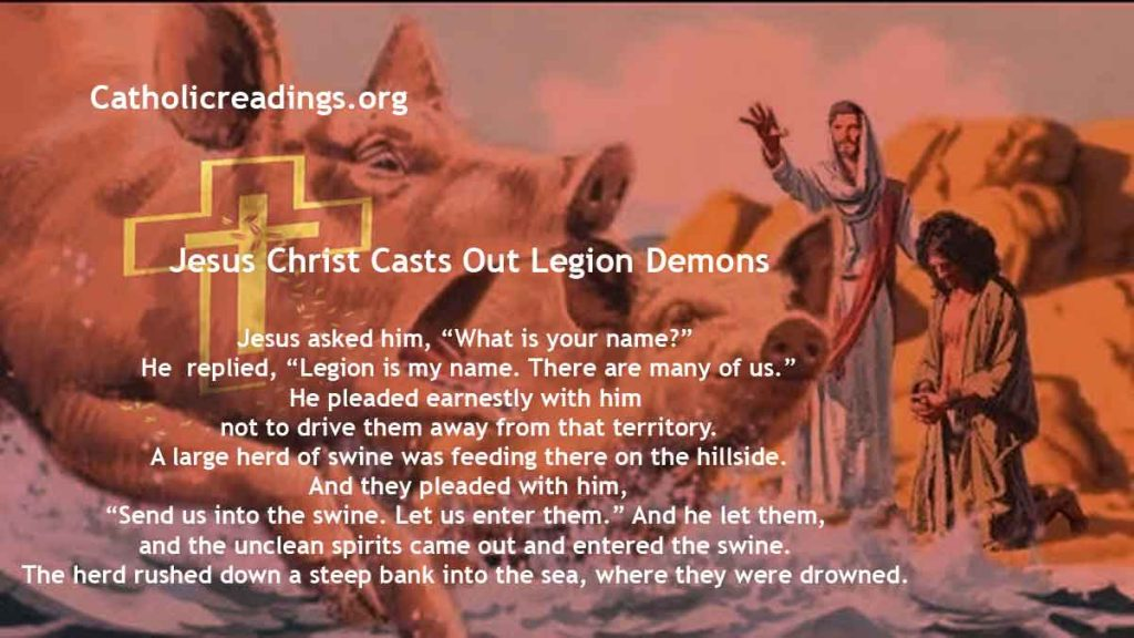 Jesus Christ Casts Out Legion Demons - Mark 5:1-20, Matthew 8:28-34 - Bible Verse of the Day