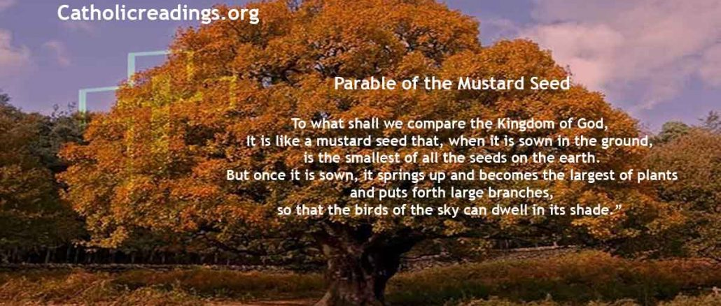 Parable of the Mustard Seed - Mark 4:30-32, Matthew 13:31-35, Luke 13:18-21 - Bible Verse of the Day