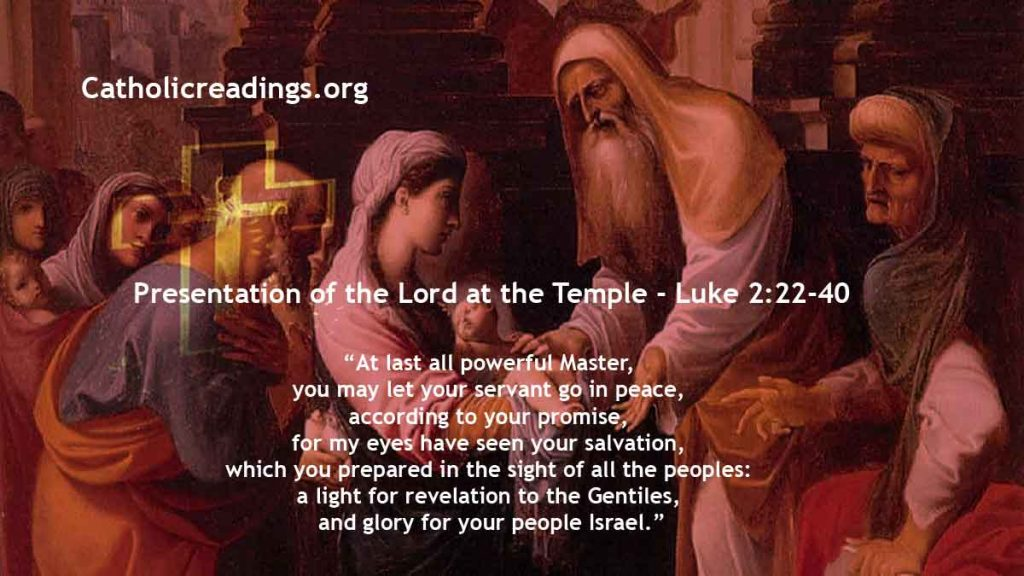 Presentation of the Lord at the Temple - Luke 2:22-40 - Bible Verse of the Day