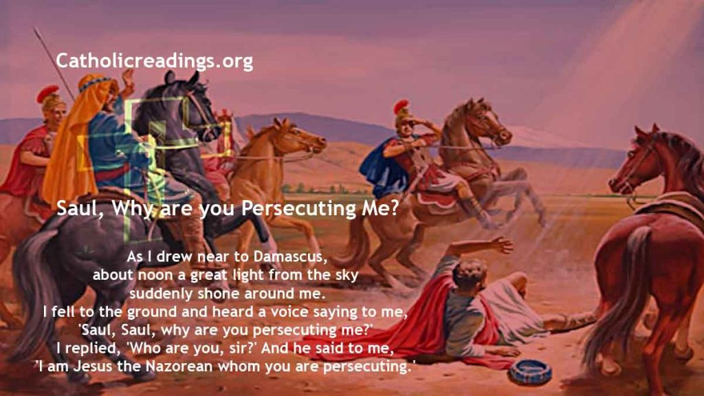 Saul, Why are you Persecuting Me? - Mark 16:15-18 - Bible Verse of the Day