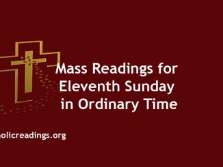 Mass Readings for Eleventh Sunday in Ordinary Time