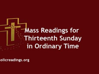 Mass Readings for Thirteenth Sunday in Ordinary Time